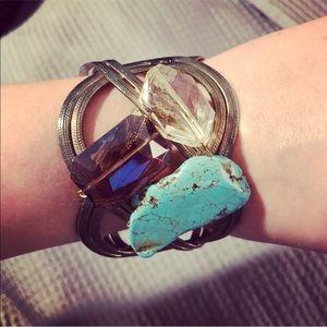 3 Stone Cuff Bracelet